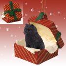 Chow, Black Red Gift Box Ornament
