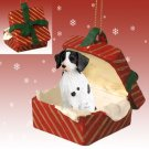 Brittany, Liver & White Red Gift Box Ornament