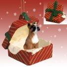 Boxer Red Gift Box Ornament