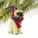 Cairn Terrier, Red Christmas Ornament