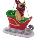 Cairn Terrier, Red Sleigh Ride Ornament