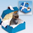 Cairn Terrier, Brindle Blue Gift Box Ornament
