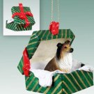 Collie, Sable Green Gift Box Ornament