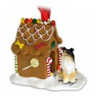 Collie, Tricolor Ginger Bread House