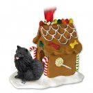 Pomeranian, Black  Ginger Bread House