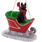 German Shepherd, Black Sleigh Ride Ornament