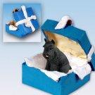 Schnauzer, Black Blue Gift Box Ornament