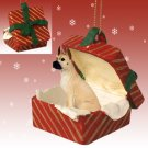 Great Dane, Fawn Red Gift Box Ornament