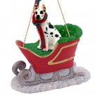 Great Dane, Harlequin Sleigh Ride Ornament