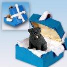Pug, Black Blue Gift Box Ornament