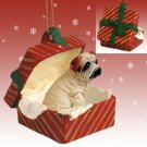 Shar Pei, Cream Red Gift Box Ornament