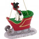Fox Terrier, Black & White Sleigh Ride Ornament