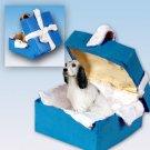 English Setter, Blue Belton Blue Gift Box Ornament