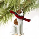 Whippet, Brindle & White Christmas Ornament