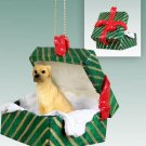 Great Dane, Fawn, Uncropped Green Gift Box Ornament
