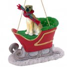 Great Dane, Fawn, Uncropped Sleigh Ride Ornament