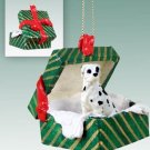 Great Dane, Harlequin, Uncropped Green Gift Box Ornament