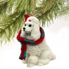 Poodle, White Christmas Ornament