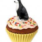 Greyhound, Black & White Pupcake Trinket Box