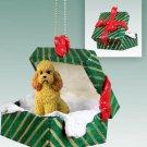 Poodle, Apricot, Sport cut Green Gift Box Ornament