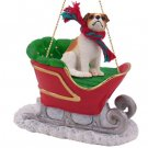 Jack Russell Terrier, Brown & White, Smooth Coat Sleigh Ride Ornament
