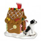 Jack Russell Terrier, Black & White, Smooth Coat Ginger Bread House
