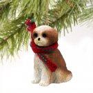 Shih Tzu, Tan, Sport cut Christmas Ornament