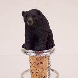 Black Bear  Bottle Stopper