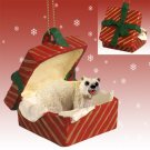 Polar Bear Red Gift Box Ornament