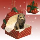Lion Red Gift Box Ornament