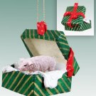 Pig, Pink Green Gift Box Ornament