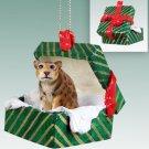 Jaguar Green Gift Box Ornament