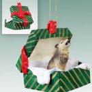 Wolf, Timber Green Gift Box Ornament