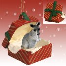 Kangaroo Red Gift Box Ornament