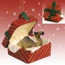 Camel, Dromedary Red Gift Box Ornament