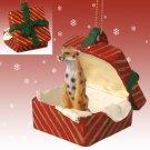 Cheetah Red Gift Box Ornament