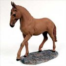 Chestnut Horse Walking & trot Figurine