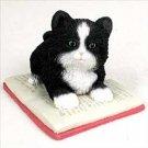 My Kitty Scholar on a Book Figurine