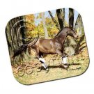 Brown Horse Running Mouse Pad