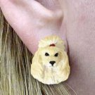 Apricot Poodle Earrings Post