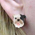 Bulldog Brindle Earrings Post