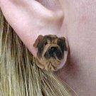 Shar Pei Cream Earring Post