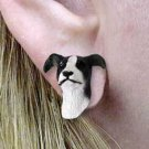 Greyhound Black Earring Post