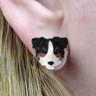 Australian Shepherd Tri Earrings Post