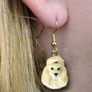 Apricot Poodle Earrings Hanging