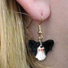 Papillion Black & White Earrings Hanging