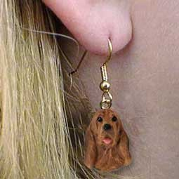 Bloodhound Earrings Hanging