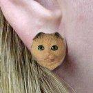 Scottish Fold Brown Tabby Earrings Post