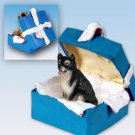 BGBD108 Alaskan Malamute Blue Gift Box Ornament