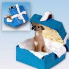 BGBD111 Italian Greyhound Blue Gift Box Ornament